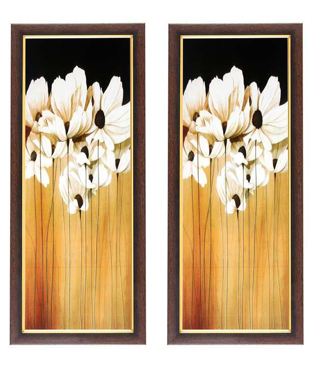Wens White Flower Wall Art (Buy 1 Get 1)