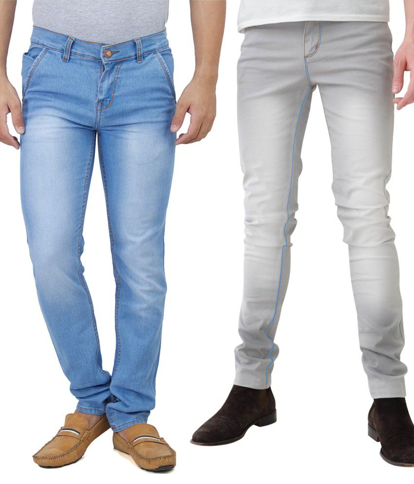 Haltung Multicolour Cotton Blend Jeans - Combo Of 2