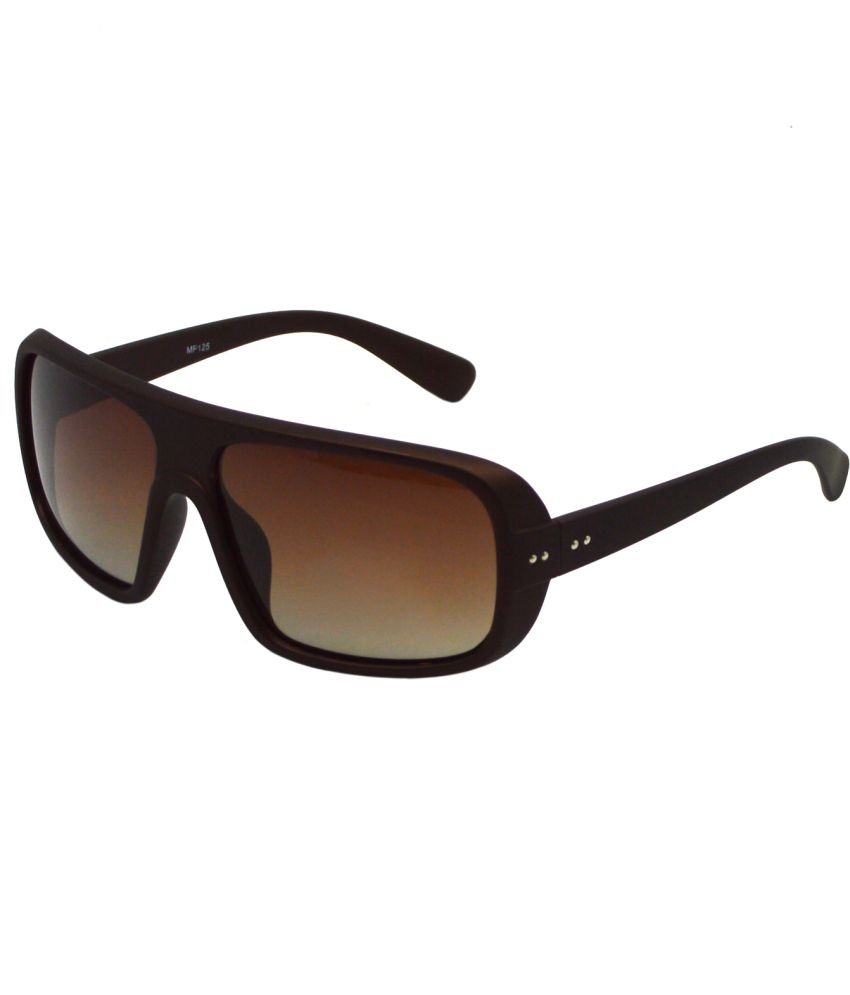 Red Knot Brown Large For Unisex Rectangle Sunglasses