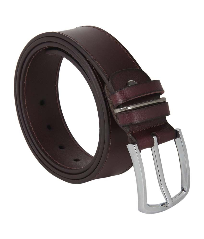 A4aadi Brown Leather Casual Belt For Men