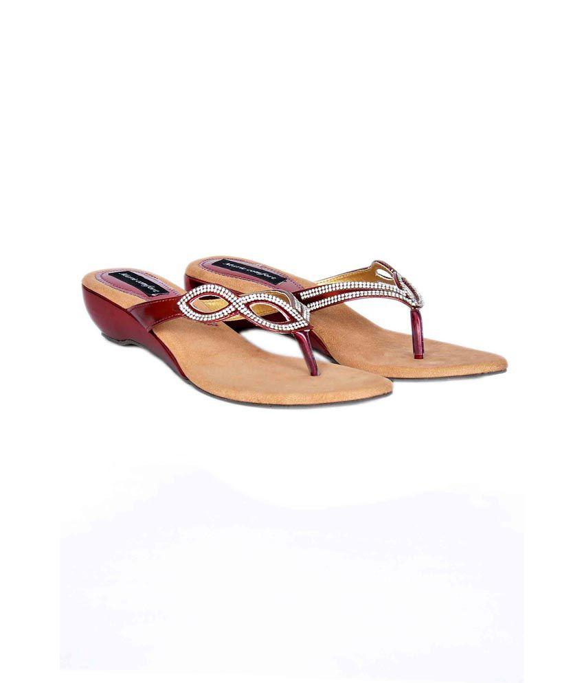 Marie Comfort Maroons Heeled Slip-Ons