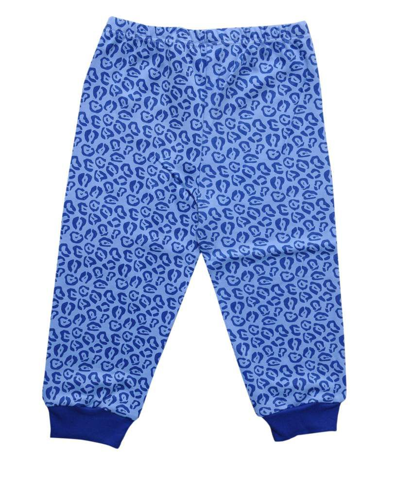 Most Wanted Blue Graphics Cotton Capri