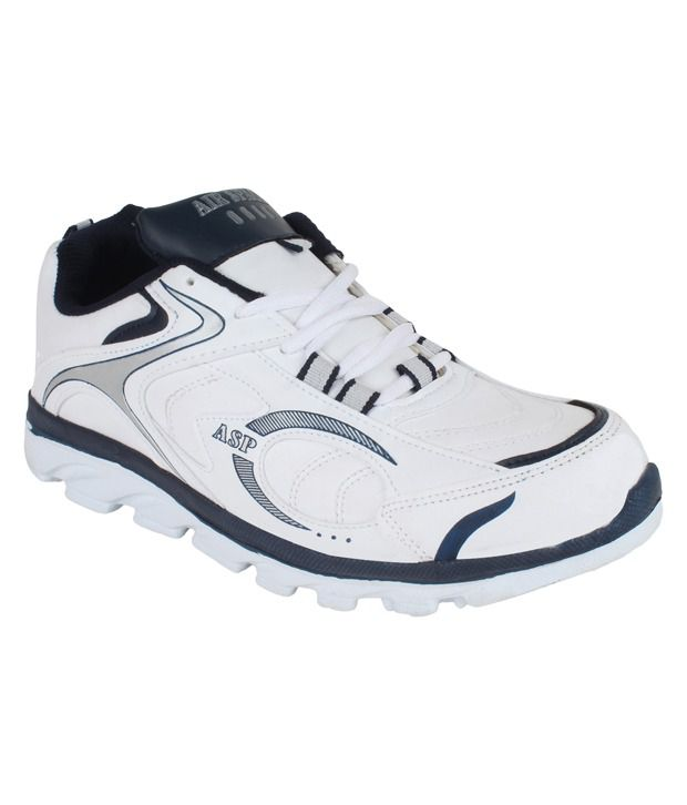 Air Space White and Blue Lifestyle Sports Shoes