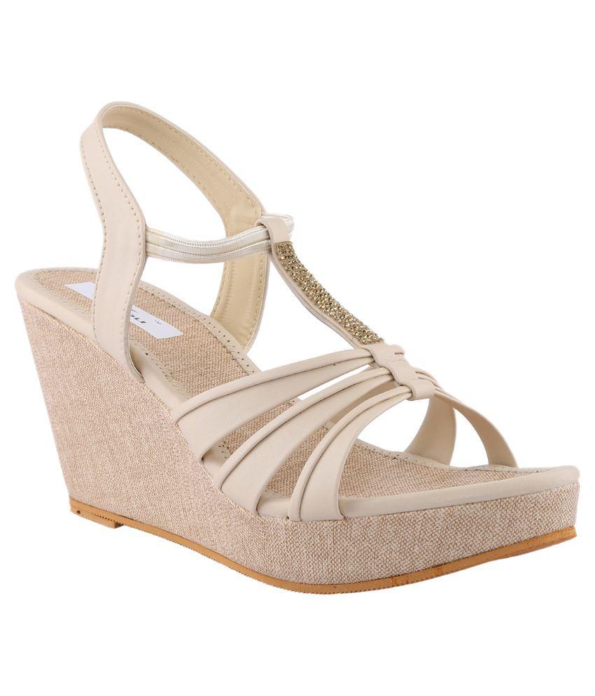allinyou beige wedge sandals price in india buy allinyou
