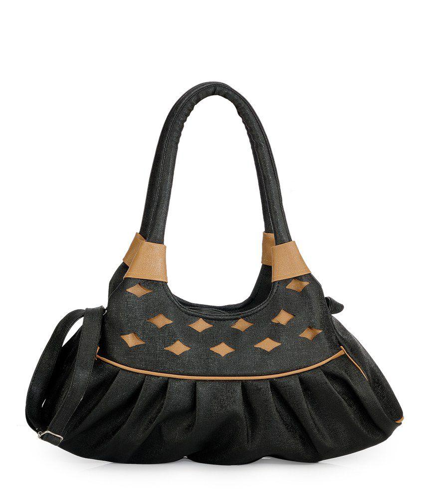 Bags Craze Black Two Compartments Shoulder Bag