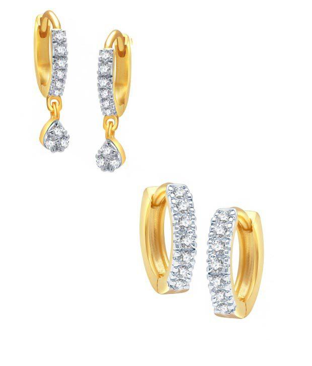 Youbella Golden Alloy Earrings Combo Of 2