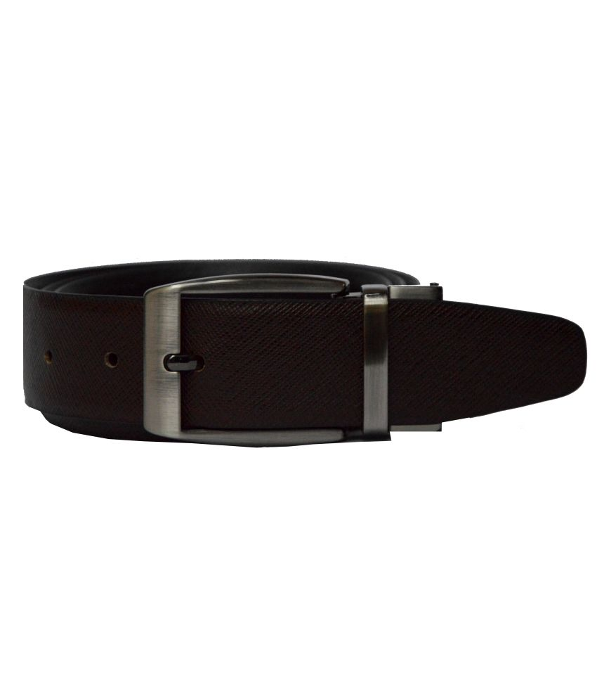 Dennison Black and Brown Leather Belt