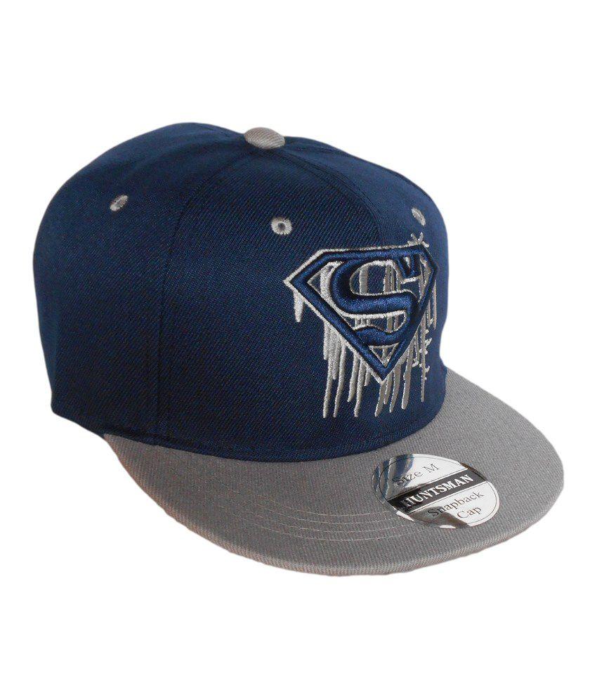 Huntsman Era Superman Blue and Grey Baseball Snapback Cap