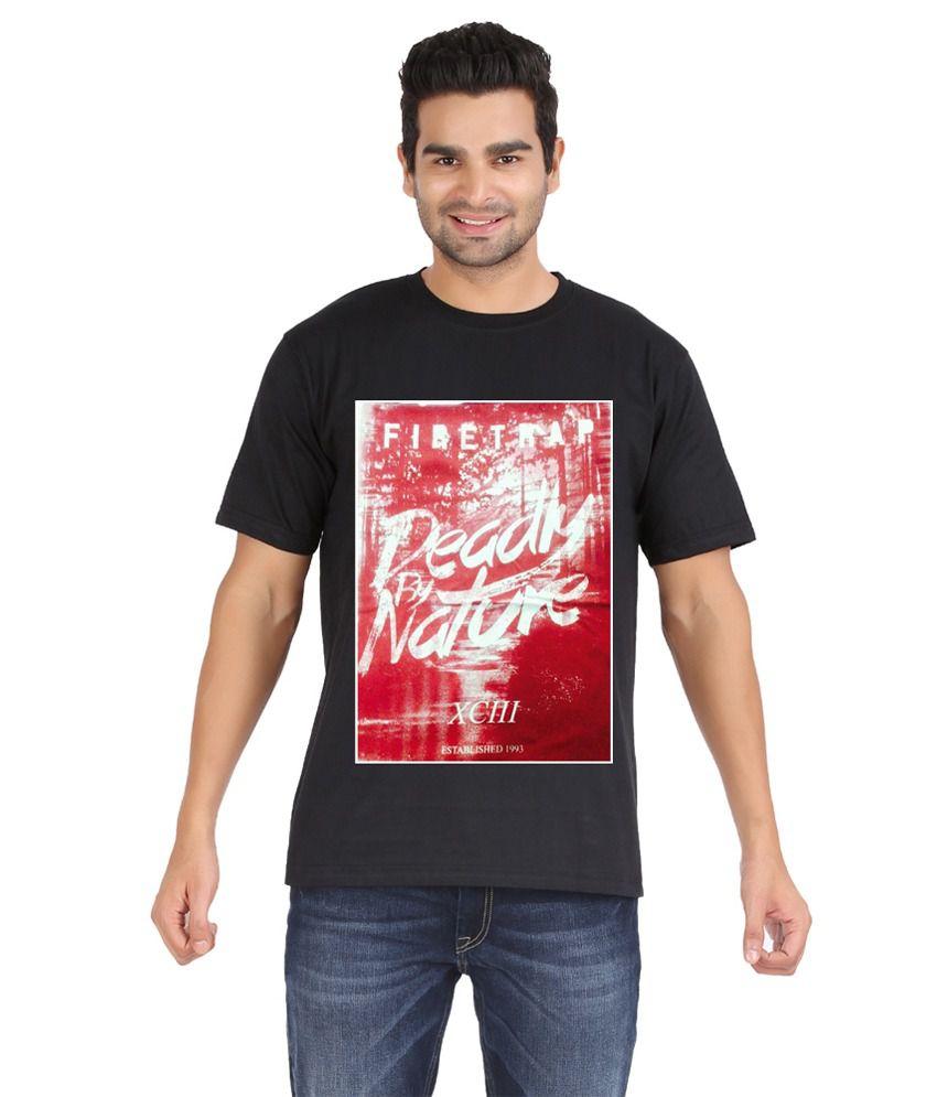 Zovogue Black Cotton T-Shirt