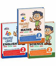 Olympiad Champs Science, Mathematics, English Class 2 with 15 Online Mock Tests (set of 3 books) Paperback (English) 2015