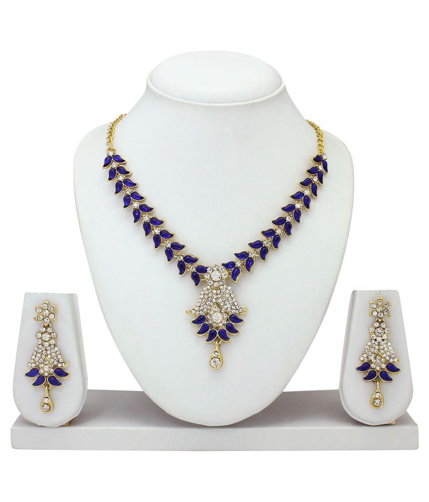 Atasi International Blue Just Like Diamond Bridal Necklace Set