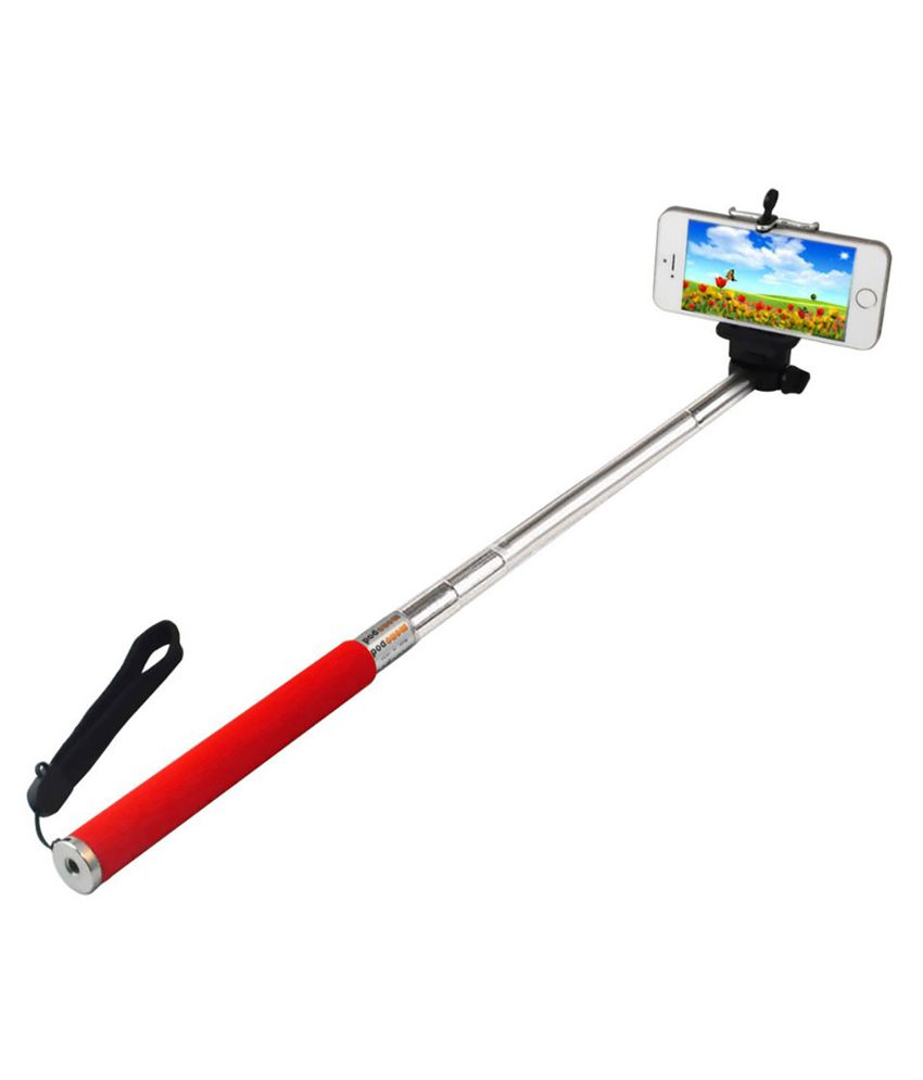 essot red selfie stick with monopod selfie sticks accessories online. Black Bedroom Furniture Sets. Home Design Ideas