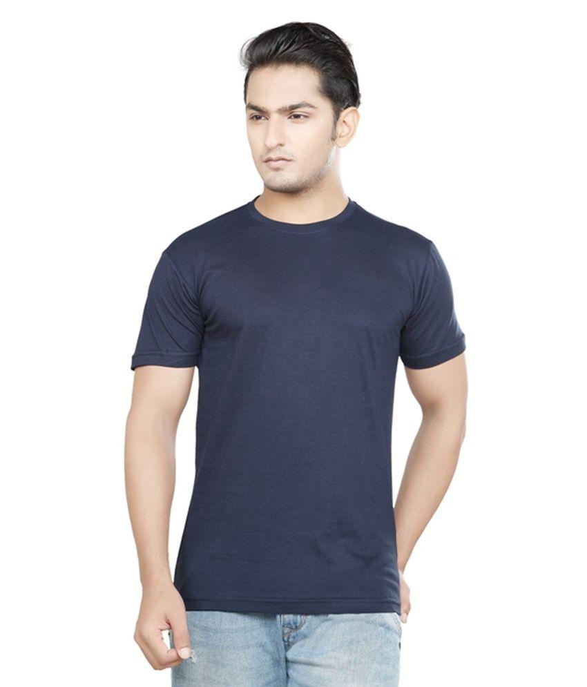Kare Navy Cotton Blend T Shirt