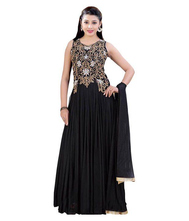 3e1beab6e58 Guru Mehar Creations Black Designer Gown Price in India