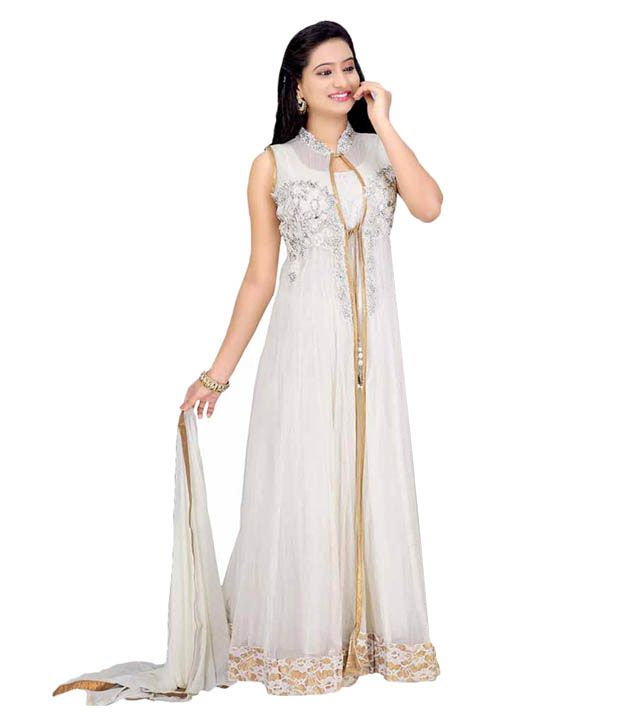 aa4f6a3af Guru Mehar Creations Beguilling Designer White Gown - Buy Guru Mehar  Creations Beguilling Designer White Gown Online at Best Prices in India on  Snapdeal
