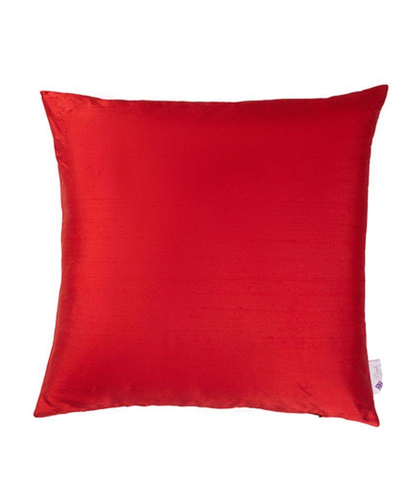 Purple Threads Silk Dupioni Cushion Cover - Red
