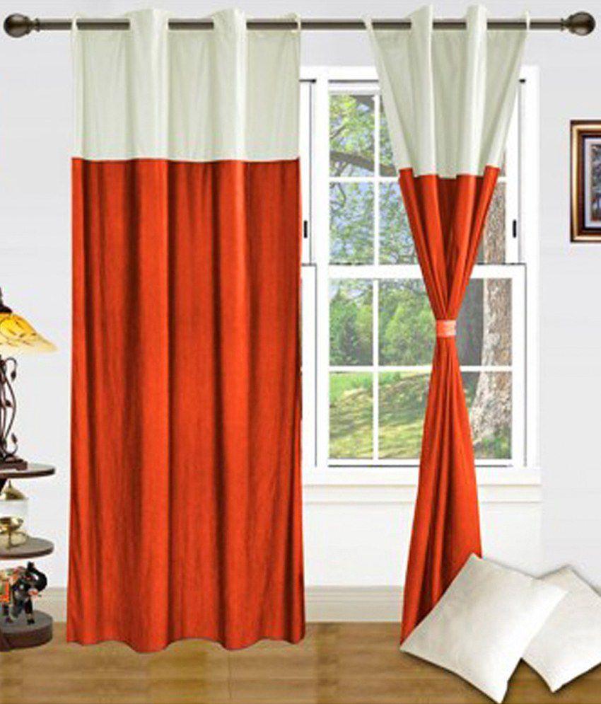 Beautiful Plain Orange Curtains Gallery - Bathtub for Bathroom ...