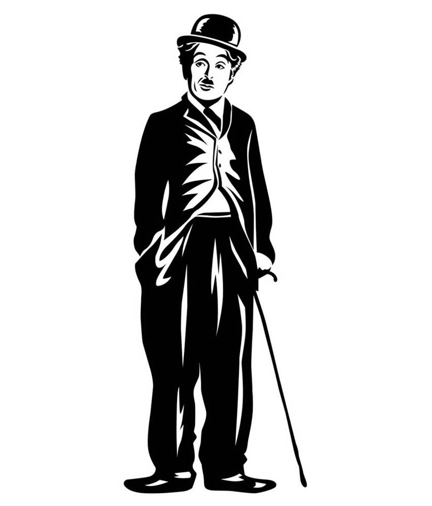 Trends on Wall Charlie Chaplin Sticker   Extra Large
