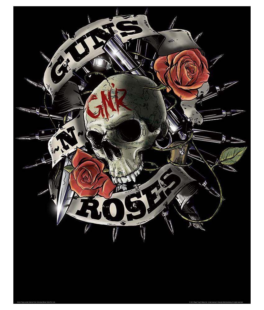 Bravado Guns N Roses Skull Printed Poster: Buy Bravado ...