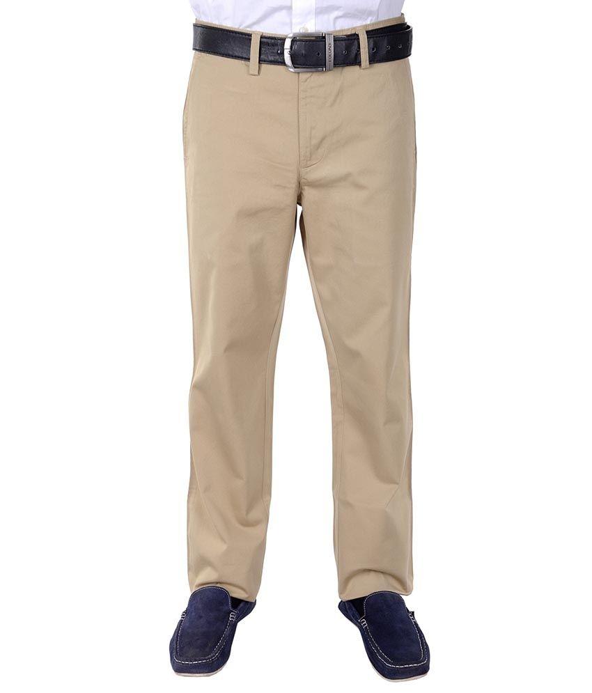 Frank Jefferson Khaki Regular Fit Formal Flat