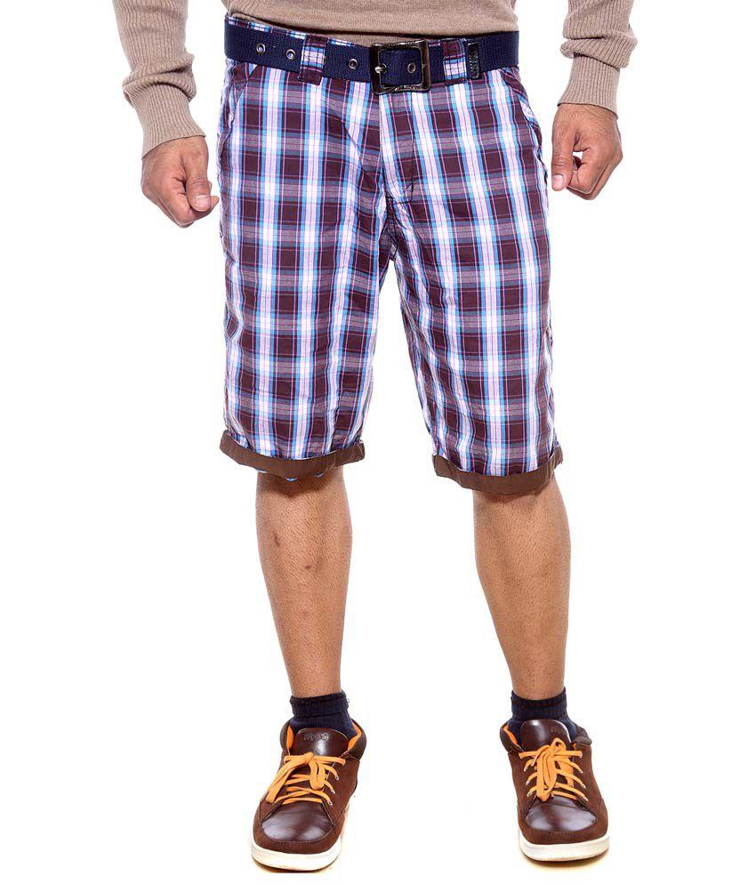 Sports 52 Wear Blue Cotton Shorts