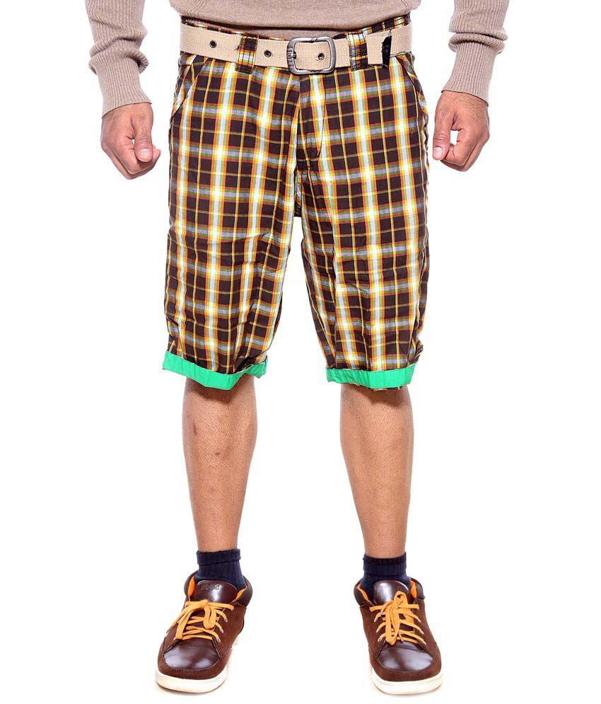 Sports 52 Wear Brown Cotton Shorts