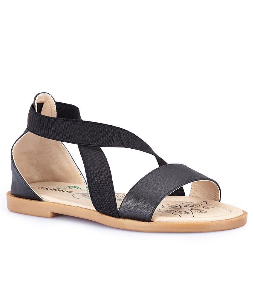Kittens Black Sandals For Kids Price in India- Buy Kittens ...