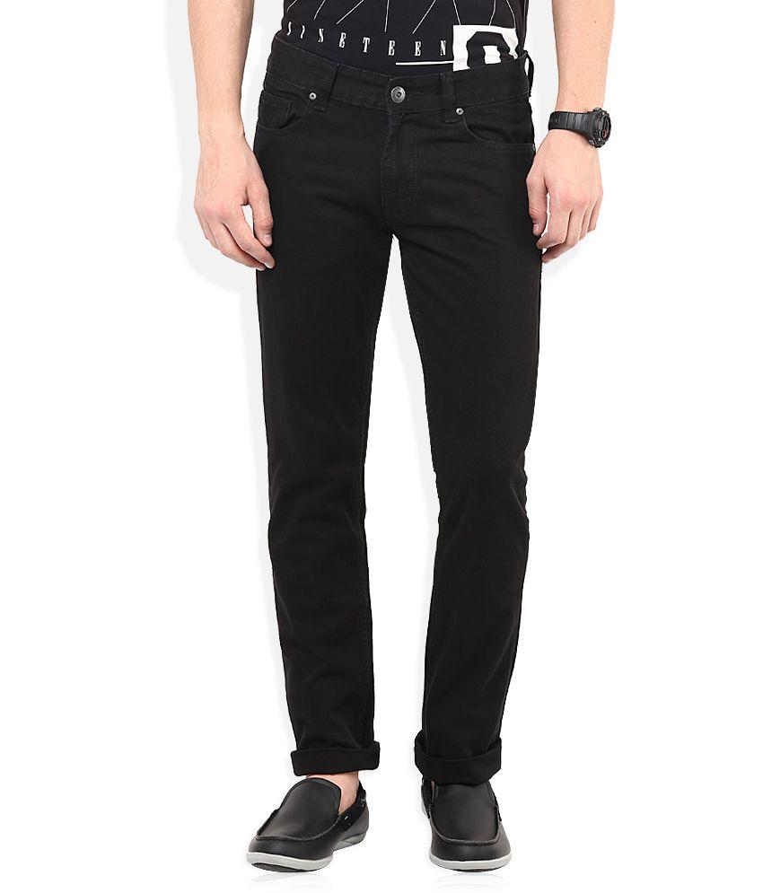 Numero Uno Black Slim Fit Jeans