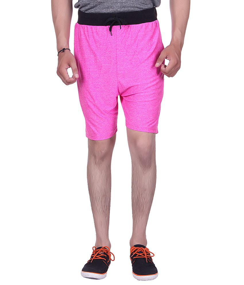 Gag Wear Pink Cotton Blend Milang Shorts