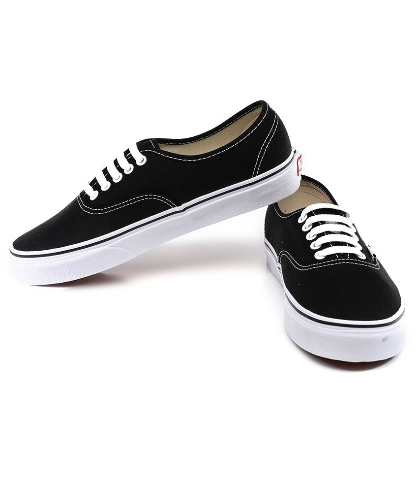 27f3532e66 Vans Authentic Black Casual Shoes - Buy Vans Authentic Black Casual ...