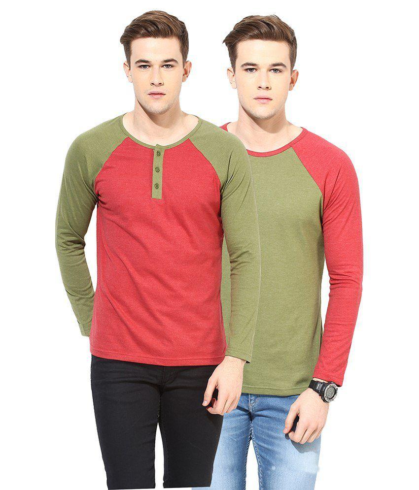 Yellow Submarine Multi Cotton Blend T-shirt Pack Of 2