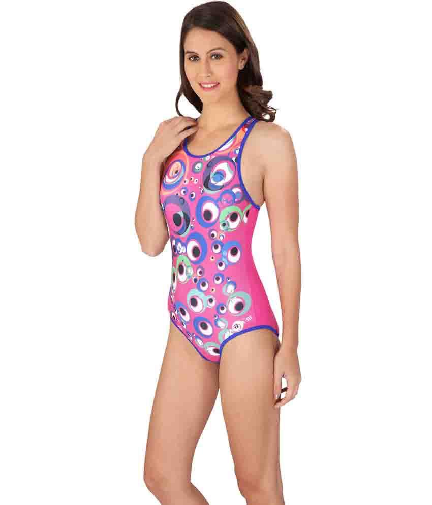 Lactra Multicolor Nylon Female Swimwear/ Swimming Costume