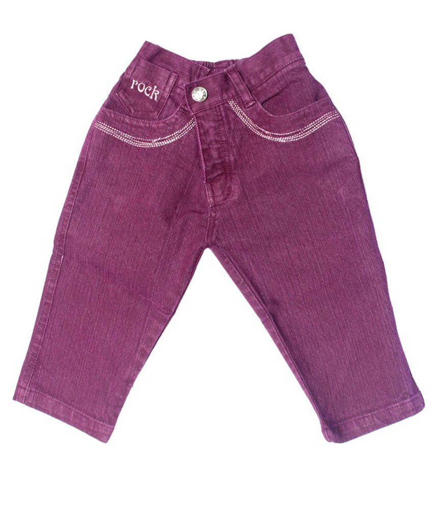 N-XT GIRLS Pink Denim Capri