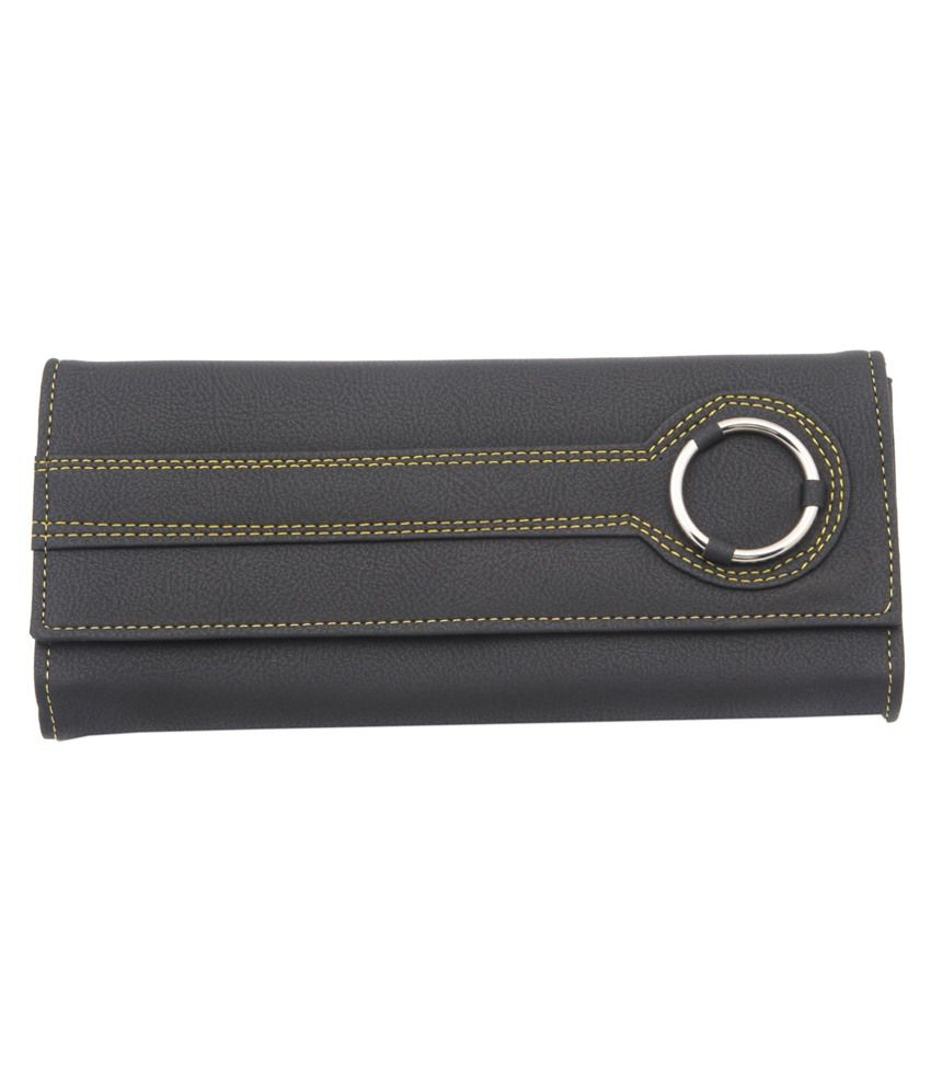 Sanjog Black Clutch/Wallet