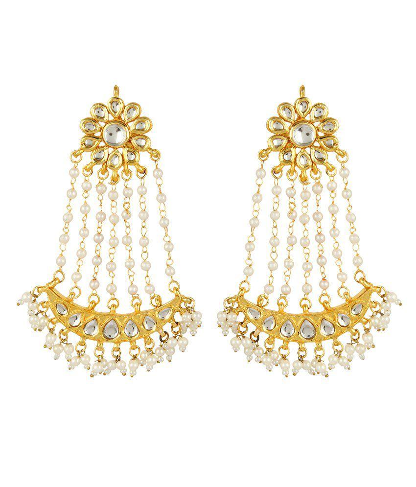 Zaisch Golden Brass & Copper Earrings