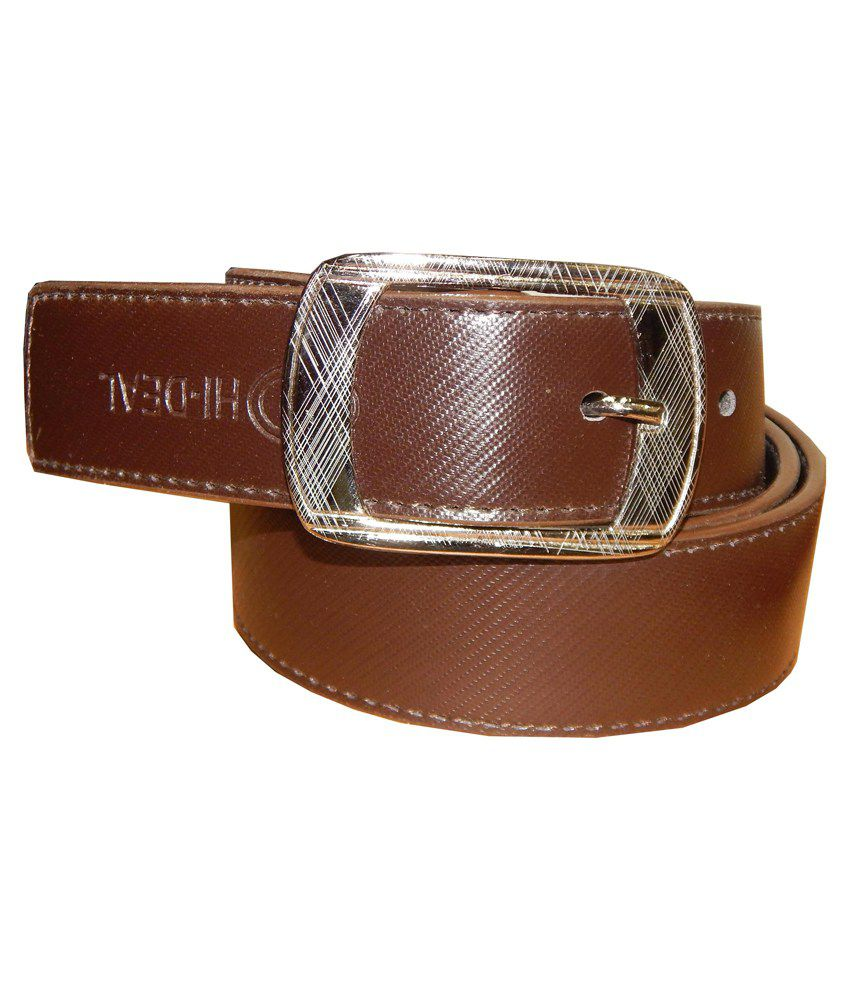 Ansari Brown Leather Pin Buckle Belt