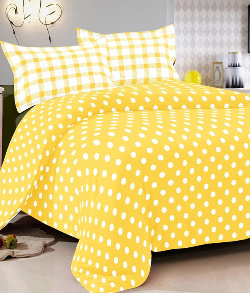 Yellow Cotton Sheets Queen Colorful Printing Zoo Animal
