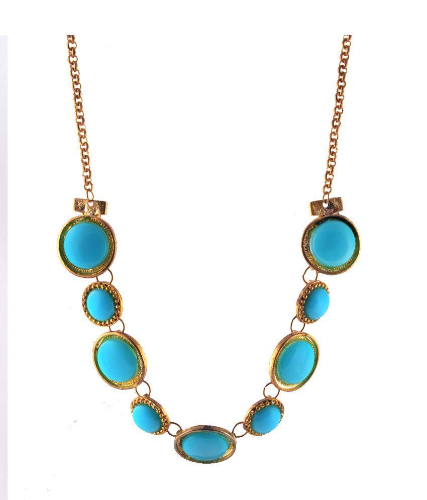 Zephyrnation Blue Alloy Necklace