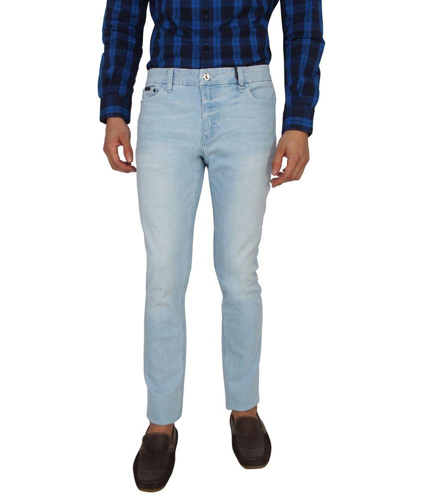 Calvin Klein Blue Cotton Skinny Fit Jeans