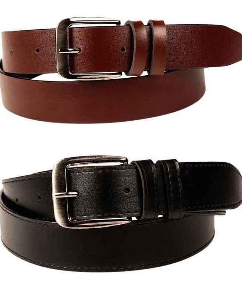 Porus Club Multicolour Casual Belt For Men (pack Of 2)