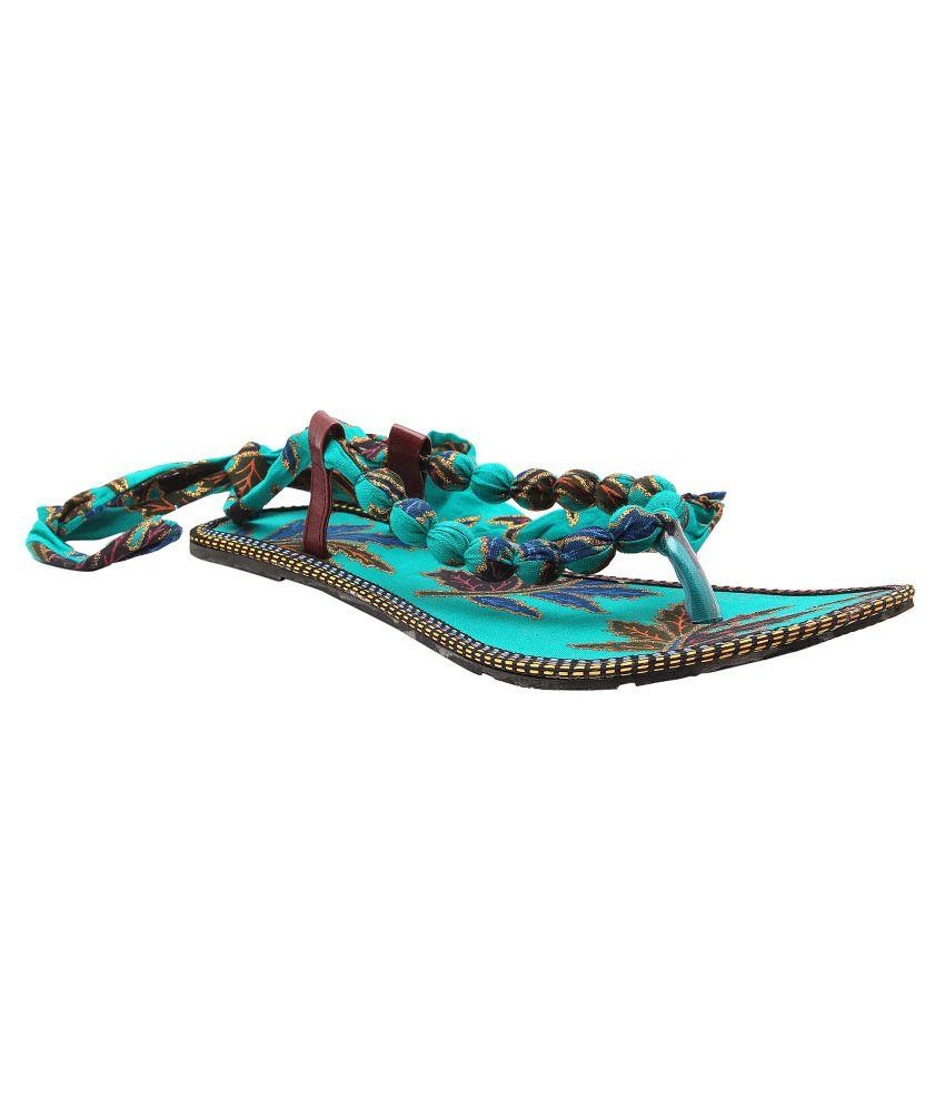 Ridhi Sidhi Stunning Turquoise Sandals