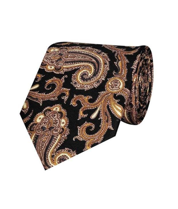 Tiekart Black and Brown Silk Tie