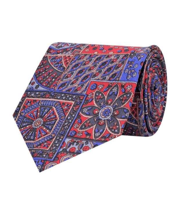 Tiekart Blue and Red Silk Tie