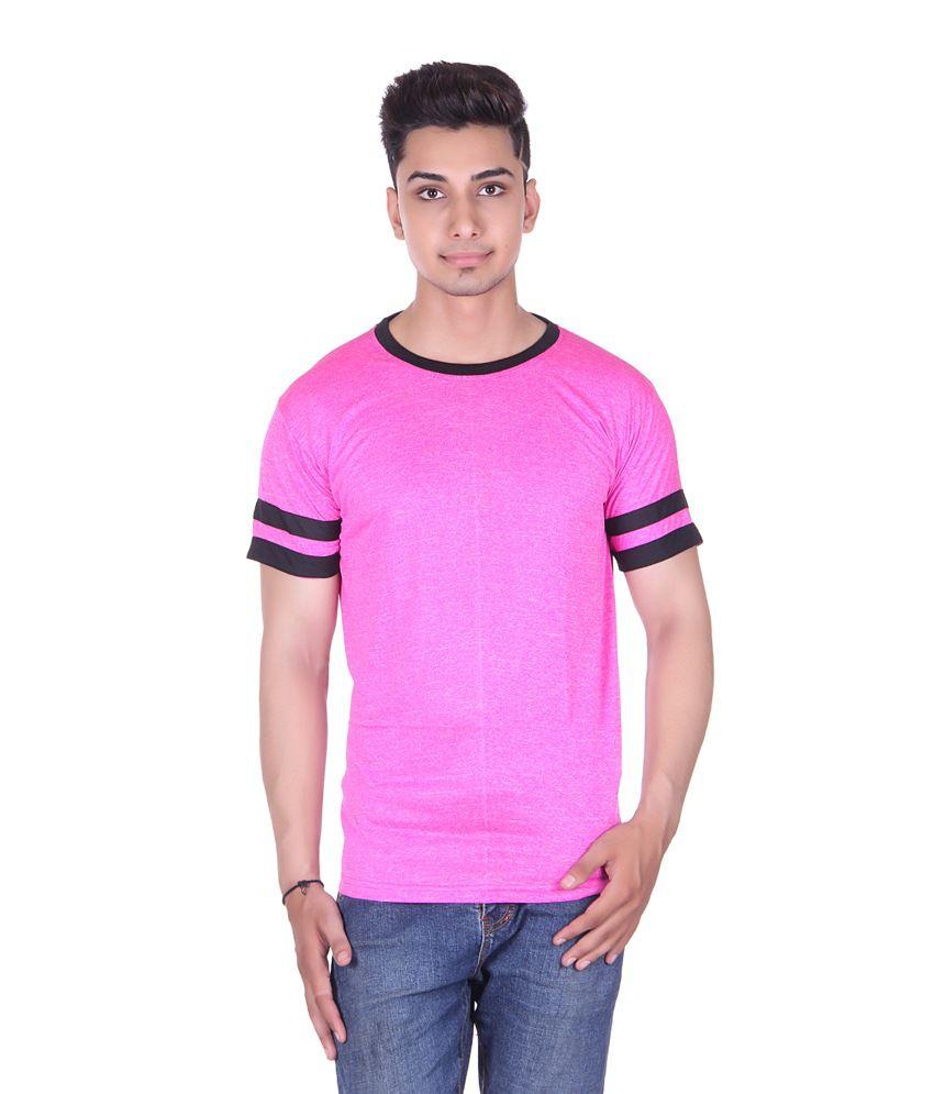 Gag Wear Pink Half Sleeves Basic Wear T-shirt