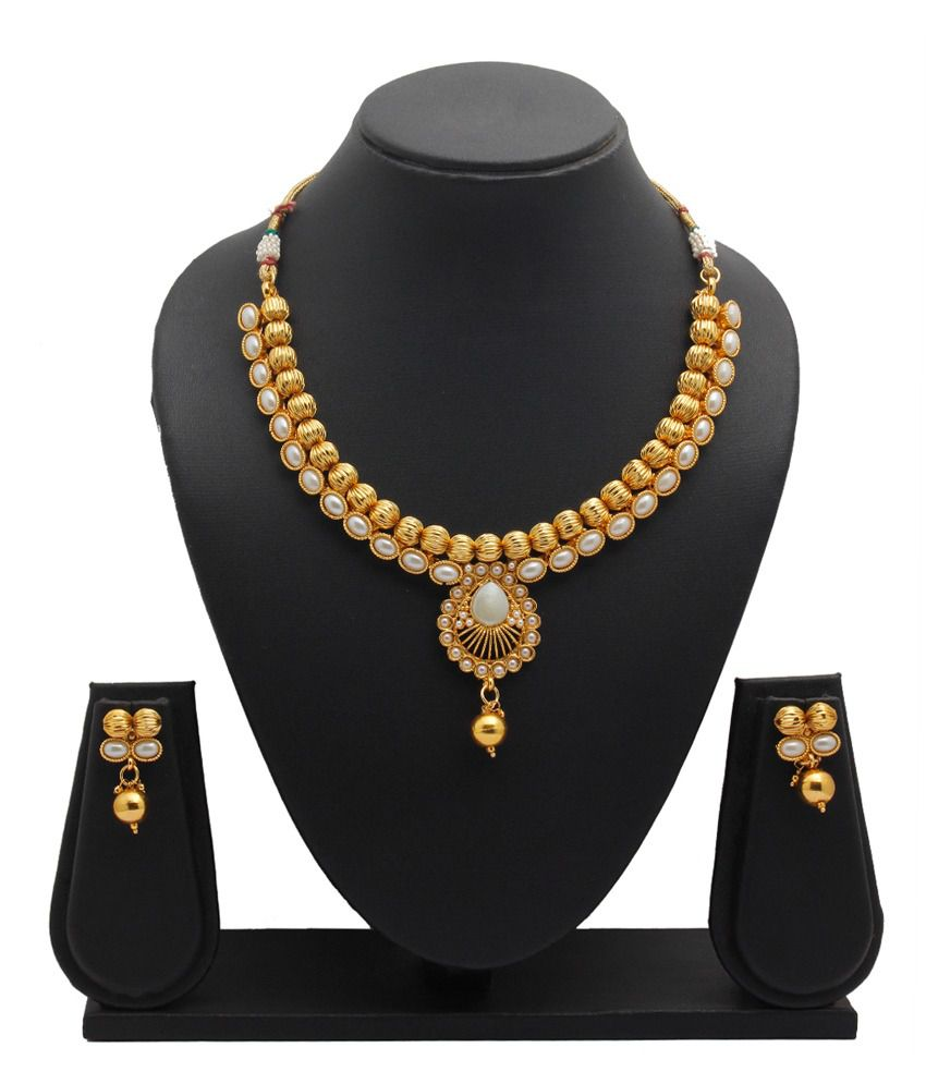 Party Queen White Alloy Necklace Set