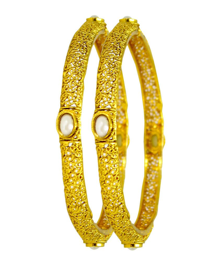 Satyam Jewellery Nx Golden Copper Bangles For Women