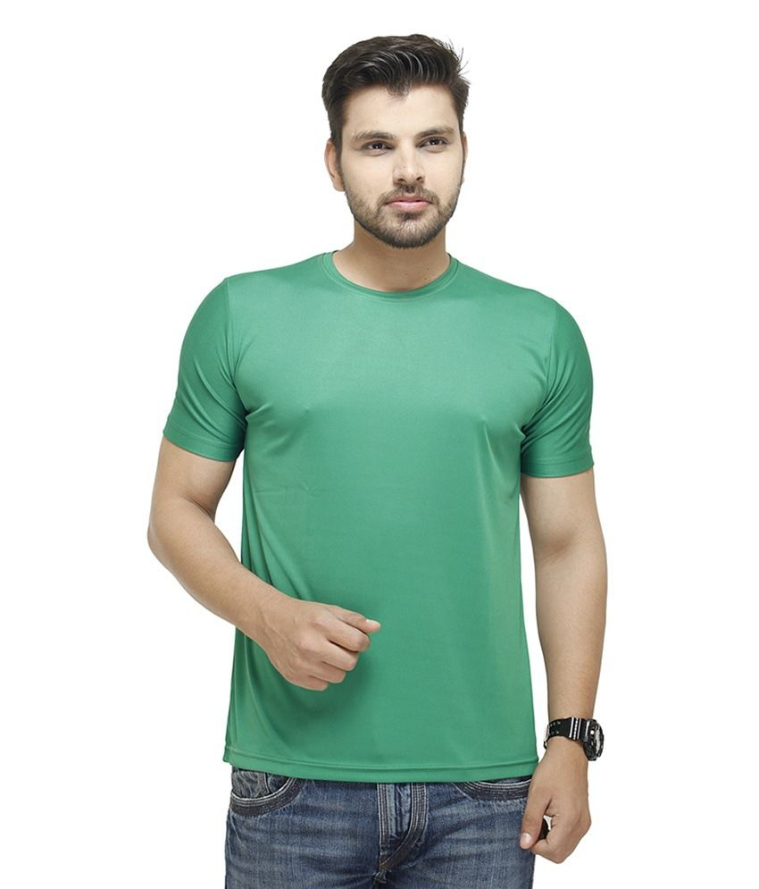 Pnp Green Cotton Blend T Shirt - Set Of 2