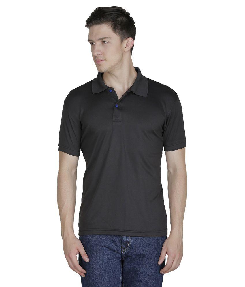 Sass black half sleeves basic wear polo t shirt buy sass for Full sleeve polo t shirts