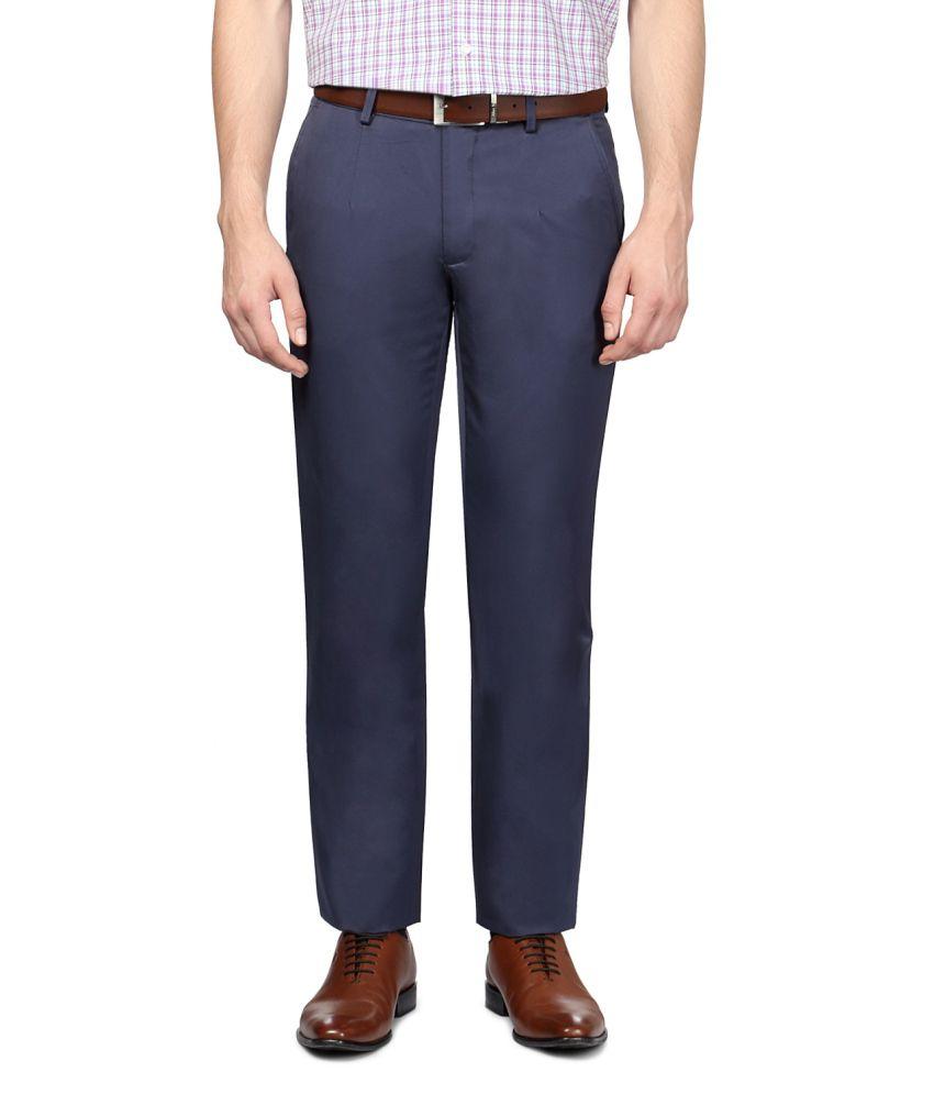 Van Heusen Blue Cotton Trousers