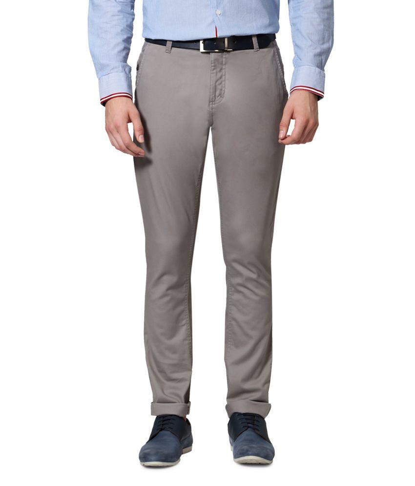 Van Heusen Grey Cotton Trousers